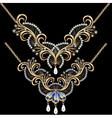 necklace women for marriage with pearls and precio vector image vector image