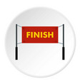 finish line icon circle vector image