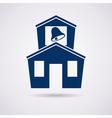 icon of school vector image