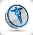 Caduceus medical symbol vector image vector image