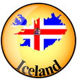 button Iceland vector image vector image