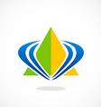 pyramid triangle loop abstract logo vector image