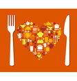 Love food vector image vector image