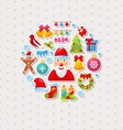 New Year Traditional Colorful Elements vector image