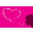 heart shape dandelion fluff vector image vector image