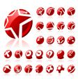 set of original icons vector image vector image