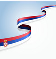 Serbian flag background vector image vector image