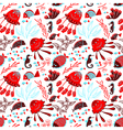seamless pattern with marine underwater life vector image