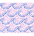 Pink trendy colors dotted mosaic waves seamless vector image