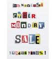 Background of Cyber Monday sale vector image
