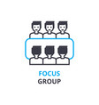 focus group concept outline icon linear sign vector image