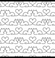 Lovely Cat Seamless Pattern vector image