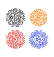 set of chinese moon cake pattern on white vector image