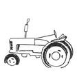 tractor sketch agricultural logo vector image