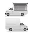 white food truck mock up template fast food van vector image