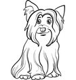 Yorkshire terrier dog coloring book vector image