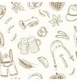 October fest doodle seamless pattern Vintage vector image