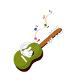 A view of guitar vector image vector image