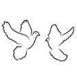 doves silhouettes vector image