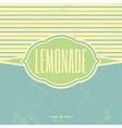 Retro Lemonade Vintage Template vector image