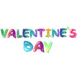 colorful balloons flying for valentine s day vector image