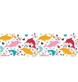 Fun colorful dolphins horizontal seamless pattern vector image vector image