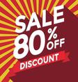 Sale 80 persent off discount vector image vector image