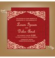 wedding card red vector image