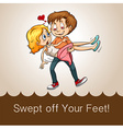 Swept off your feet vector image