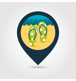 Flip Flops pin map icon Summer Vacation vector image