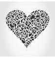 Heart a bird vector image vector image