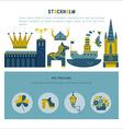 Stockholm icon set vector image