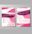 abstract templates for flyer brochure flat design vector image