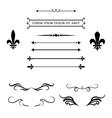Calligraphic flourish design elements and frames vector image
