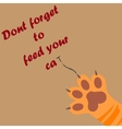 cat paw print with claws vector image