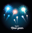 colorful fireworks happy new year background vector image