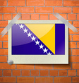 Flags of Bosnia and Herzegovina scotch taped to a vector image