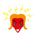 flat icon on theme evil women vector image