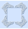 ornate greeting card christmas decoration vector image