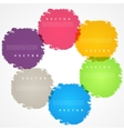 Set of hand color circles vector image