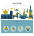 Stockholm icon set vector image
