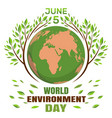 world environment day concept june 5th vector image