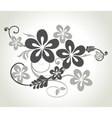 Floral curls vector image