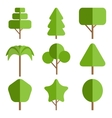 Tree icon collection vector image