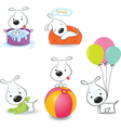 Set of funny puppies vector image vector image
