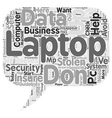 How to Keep Your Laptop Out of Thieves Hands text vector image