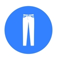 Pants icon of for web and vector image vector image