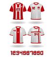 Soccer jerseys vector image
