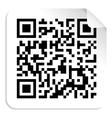 QR code label concept vector image vector image