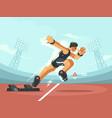 athlete sprint start vector image